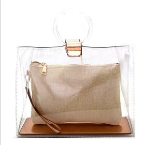 Madison West Round Handle Clear 2 in 1 Carry Bag